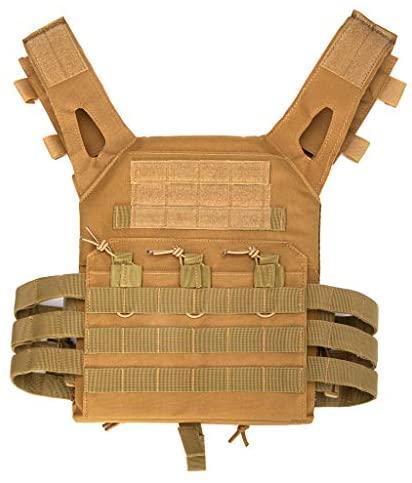 Jipemtra Tactical Airsoft Vest for Kids Outdoor Molle Breathable JPC Vest Game Protective Vest Adjustable Modular Chest Set Vest CS Field Vest Training Vest (Black #1) : Sports & Outdoors