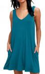 Women's Sleeveless Loose Pocket Dress