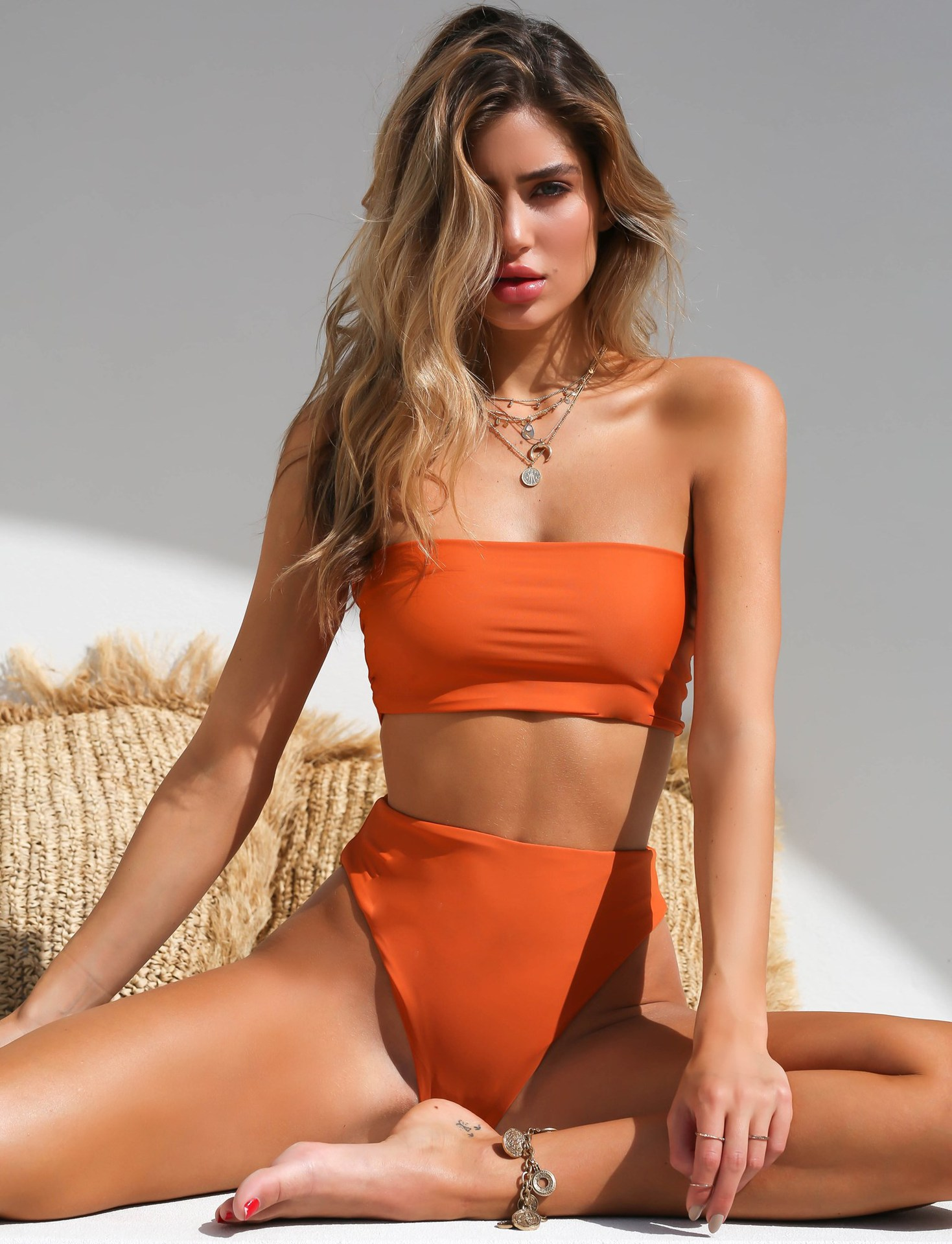 Women's Bikini Swimsuits Off Shoulder High Waist