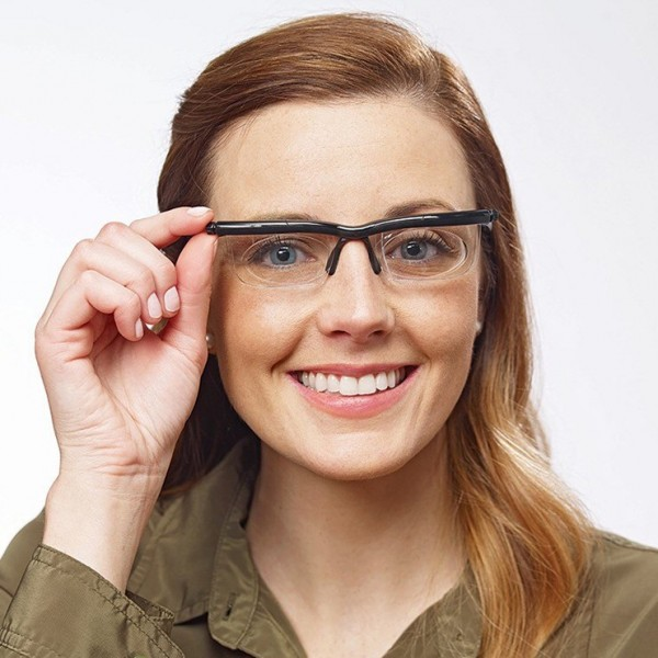 Unisex Glasses with Adjustable Lenses from -6D to +3D Power