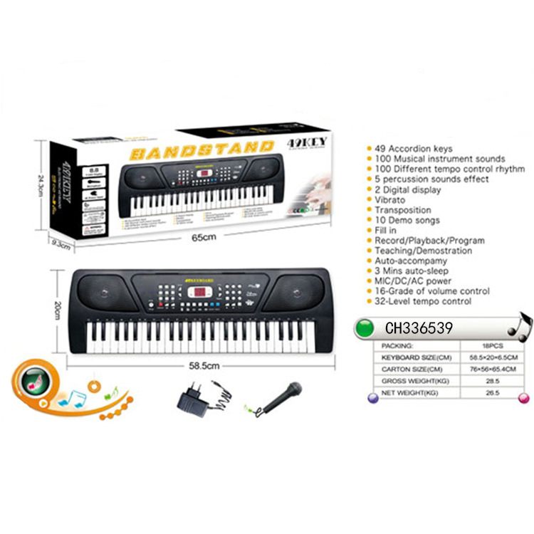 Children's Musical Instrument+ Adapter + Microphone Set