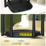 5GHz Gigabit Dual Band MU-Mimo Smart WiFi Router, Long Range Coverage by 4 Antennas(