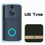Video Doorbell, Smart Home Surveillance Video, Smart WIF Network Video Doorbell, Remote Voice Intercom-