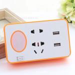 Night Light Socket Plug Converter Dual USB Socket Smart Phone Charging With Bracket Socket