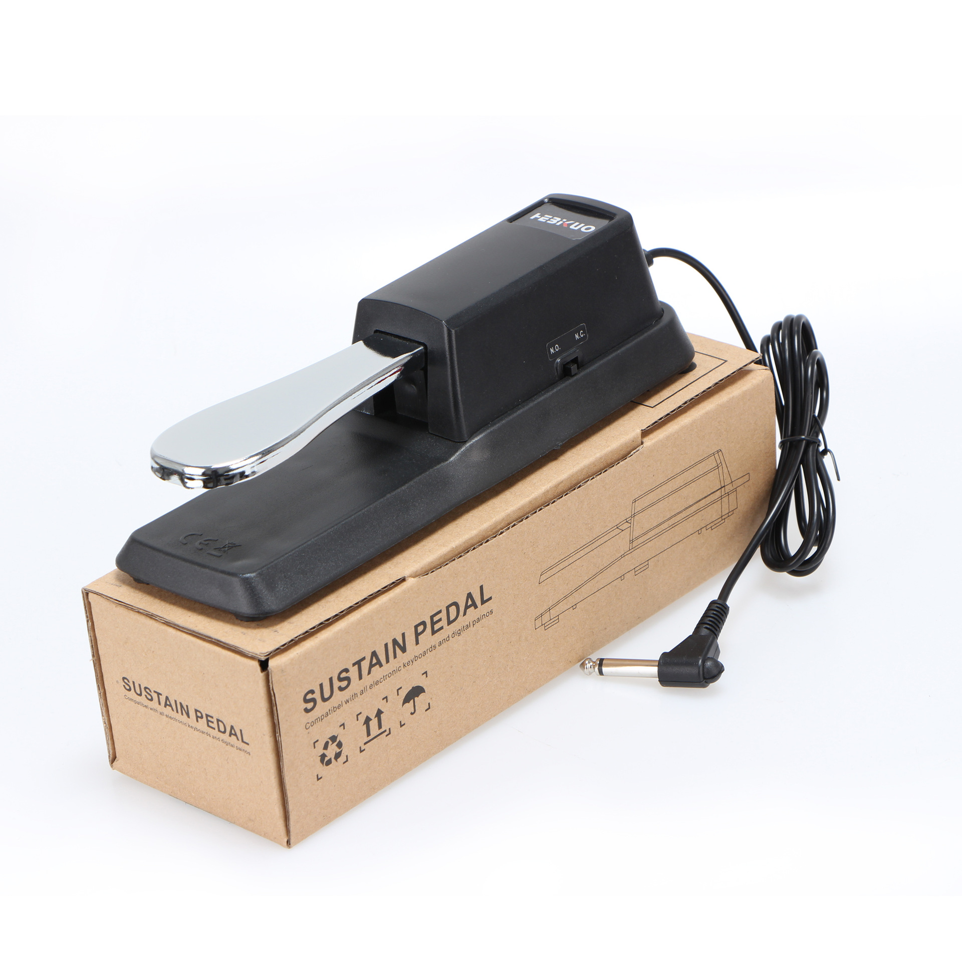 Sustain Pedal with Piano Style Action for Electronic Keyboards