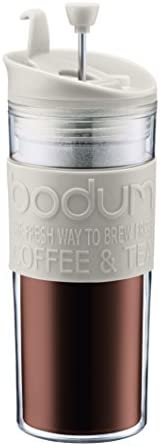 Bodum Travel Press Insulated Plastic Mug with Flip Lid 0.45 Litres: Kitchen & Dining
