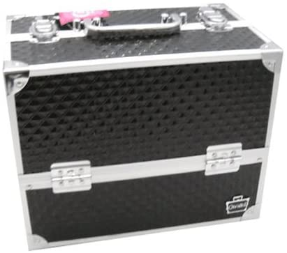 Caboodles Black Lovestruck Large Makeup Train Case 6 Cantilevered Trays 5871-64: Health & Personal Care