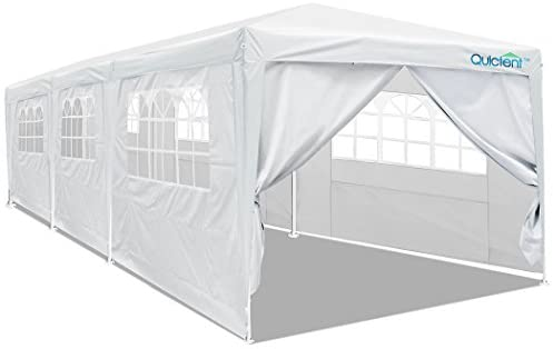 Quictent 10' x 30' Party Tent Gazebo Wedding Canopy BBQ Shelter Pavilion with Removable Sidewalls & Elegant Church : Family Tents : Garden & Outdoor