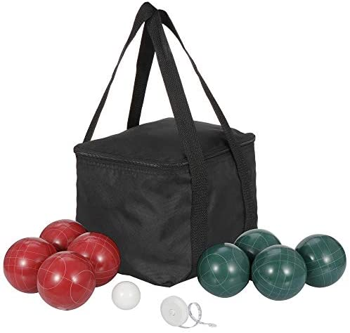 Smartxchoices Bocce Ball Set with 8 Bocce Balls 100mm, 1 Pallino, Carry Bag and Measuring Rope for Beach, Backyard Lawn or Outdoor Party Family Game All Weather : Sports & Outdoors