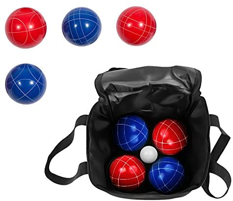 Bocce Ball Premium Set - Top Quality Resin Balls - 9 Balls with Carry Case By Trademark Innovations (Red/Blue, 90mm) : Bocce Balls : Sports & Outdoors