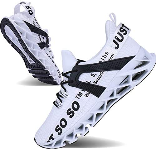 JSLEAP Mens Runing Shoes Walking Non Slip Blade Type Sneakers | Road Running
