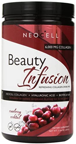 Neocell Beauty Infusion Refreshing Collagen Drink Mix Supplement, Cranberry Cocktail,11.64 OZ: NeoCell Laboratories: Health & Personal Care