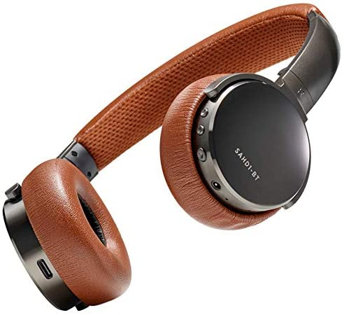 Status Audio BT One Wireless On-Ear Headphones - Bluetooth 5.0. + aptX, 30 Hours of Battery, USB-C + Quick Charge, Award Winning Sound + Minimalist Metal Design, Gunmetal Grey + Brown (Umber): Home Audio & Theater