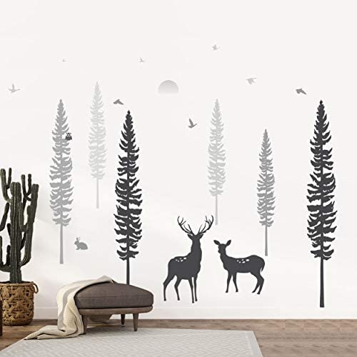 Timber Artbox Nursery Wall Decal - Dreamy Forest with Pine Tree, Animals & Deer - DIY Impressive Children Room: Arts, Crafts & Sewing