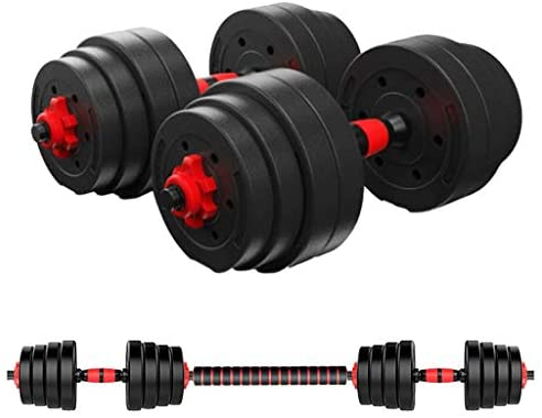 HADSAHAAE 88.18 LB Adjustable Environmental Dumbbell Combination Set, Home Fitness Dumbbell Combination Dumbbell Barbell for Men and Women Gym Work Out with Connecting Rod Used as Barbells : Sports & Outdoors
