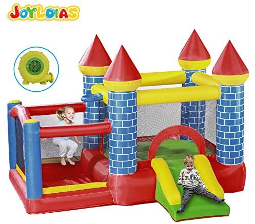 JOYLDIAS Inflatable Bounce House, Jumper Slide Playhouse w/ 350W Air Blower, Carry Bag, Bouncer, Basketball Hoop, Indoor/Outdoor Use: Toys & Games