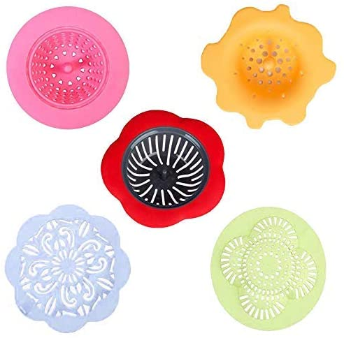 Dtzzou Acrylic Pouring Strainer 5 Pieces Plastic Silicone Strainer Flower Drain Basket for DIY Acrylic Paint Pouring Supplies and Creating Unique Patterns and Designs