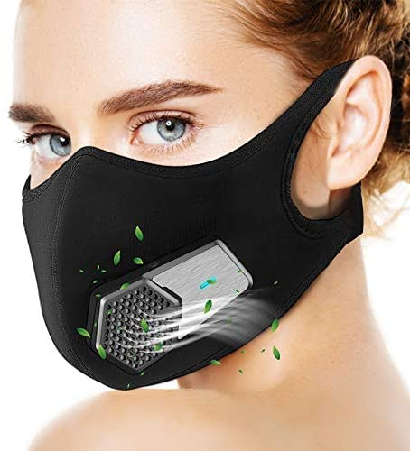 ZyeZoo Personal Wearable Air Purifiers Smart Electric Anti Dust Face Washable Protector Shield Reusable Oral Protection Filter, Black: Kitchen & Dining