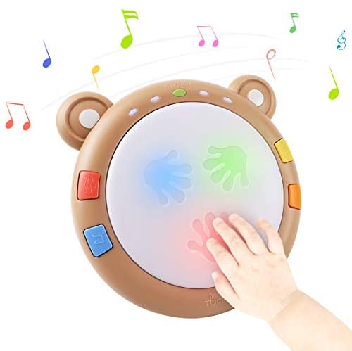 TUMAMA Baby Musical Toy, Electronic Drum Instruments with Light and Sound, Early Educational Development Songs Gift for Infants, Toddlers, Boys, Girls: Toys & Games