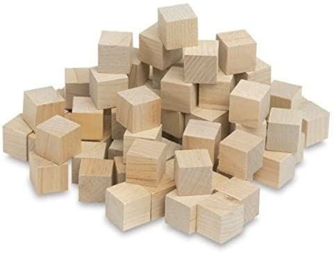 3/4 Inch Wooden Cubes, Box of 250 Unfinished Wooden Birch Blocks, Math Wood Square Blocks, Puzzle Making, Crafts, and DIY Projects (3/4 Inch Mini Wood Cubes). by Woodpeckers