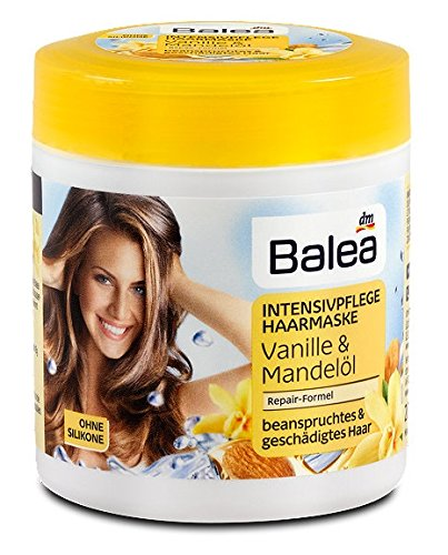 Balea Vanilla and Almond Hair Mask - Mild Formula / Not Tested on Animals / No Silicones/ No Polyquaterniums - 200ml: Beauty
