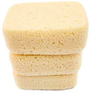 Michelle's Melting Pot Foam Bath Sponge Shower Sponge 3 Count (Smooth Yellow): Health & Personal Care