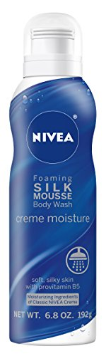 Nivea Creme Moisture Foaming Silk Mousse Body Wash, 6.8 Ounce : Beauty
