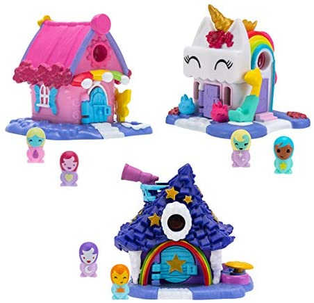 Nanables Small House Rainbow Way 3-Pack #1: Rainbow-tique, Twinkle Twinkle Inn, and Sparkle Day Spa: Toys & Games