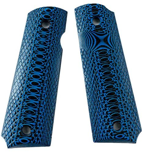 Aibote Full Size G10 1911 Gun Grips Handgun Pistol Knife Custom DIY EDC Handles Material fits Most Commander, Standard & Government 1911 Models(Blue) : Sports & Outdoors