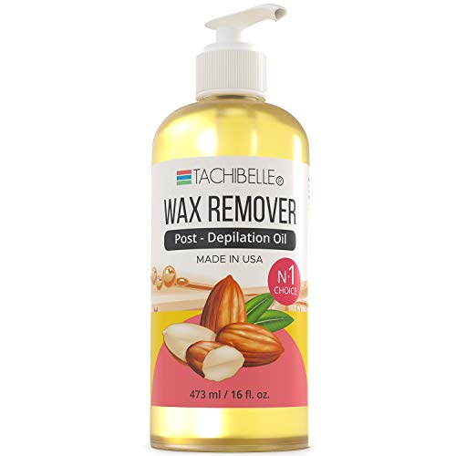 Tachibelle Wax Remover Post-Depilation Oil Enriched with Almond Oil Wax Off Remove After Wax Residue Remove Oil for SKIN MADE IN USA 16 OZ : Beauty