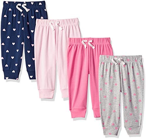 Girls' Infant 4-Pack Pull-on Pant: Clothing
