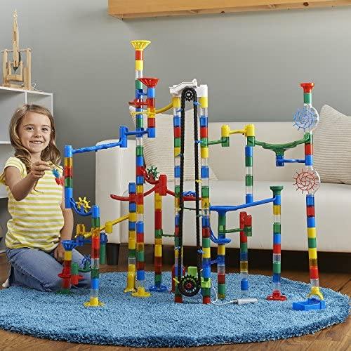 MindWare Mega Marble Run Building Set: 215+ and Motorized Elevator: Toys & Games