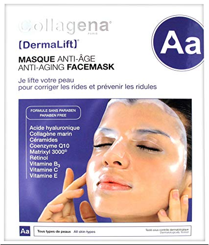 Collagena Dermalift Anti-Aging Facemask 5 Hydrogel Masks : Beauty