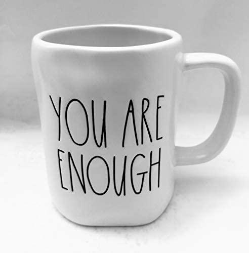 Rae Dunn by Magenta YOU ARE ENOUGH Coffee, Tea, Soup Mug Cup: Coffee Cups & Mugs