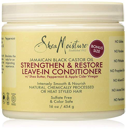 Jamaican Black Castor Oil by Shea Moisture Strengthening and Restore Leave-In Conditioner 431ml : Beauty