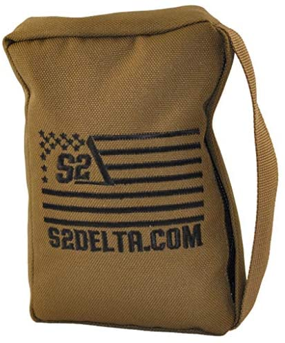Tactical Rear Squeeze Bag, Shooting Rest, Long Range Shooting Rest, PRS Precision, Medium Barricade Bag, S2Delta (Coyote Tan, 1lb) : Sports & Outdoors