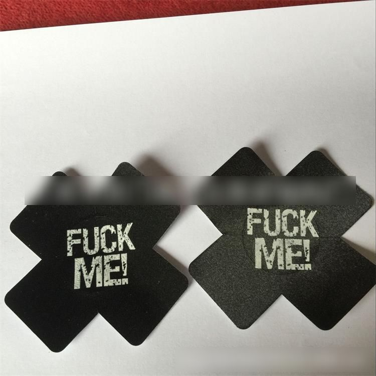 Nipplecovers Disposable, JESWELL Adhesive Women Pasties Sexy Breast Petals for Backless Dresses, Multi Design (Letter Petals 2 Pairs Black& 2 Pairs Red& 2 Pairs White) at Women's Clothing store