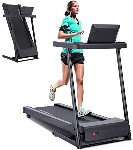 YODIMAN Folding Treadmill Electric Running Machine with 16'' Wide Tread Belt/Incline LCD Display/Cup Holder, Easy Assembly for Home Use : Sports & Outdoors