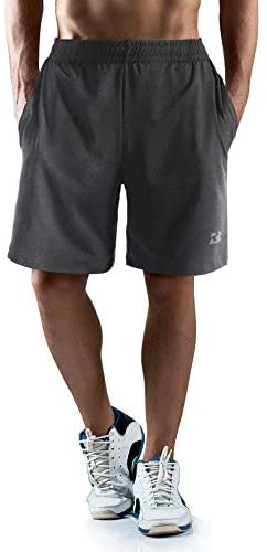 "Roadbox Men's 7"" Workout Running Shorts Lightweight Gym Athletic Shorts Basketball Shorts for Men with Pocket: Clothing"