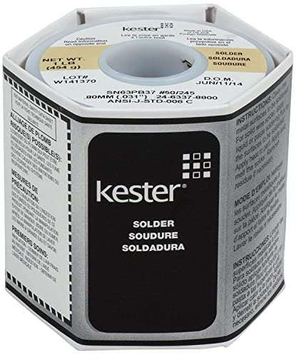 "Kester 24-6337-8800 50 Activated Rosin Cored Wire Solder Roll, 245 No-Clean, 63/37 Alloy, 0.031"" Diameter: : Industrial & Scientific"