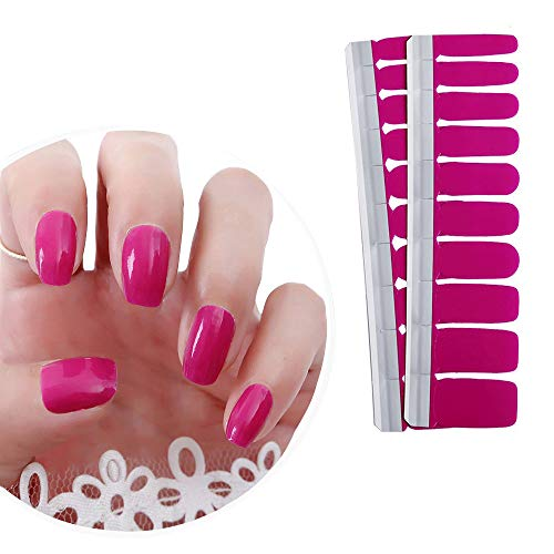 IBAOTTY 20Pcs Nail Art Wraps Sticker Simple Nail Polish For Women Sticker Strips DIY Fullnail Polish Patch Strips for Wedding, Party, Shopping, Travelling (20 pcs, Package 8): Beauty