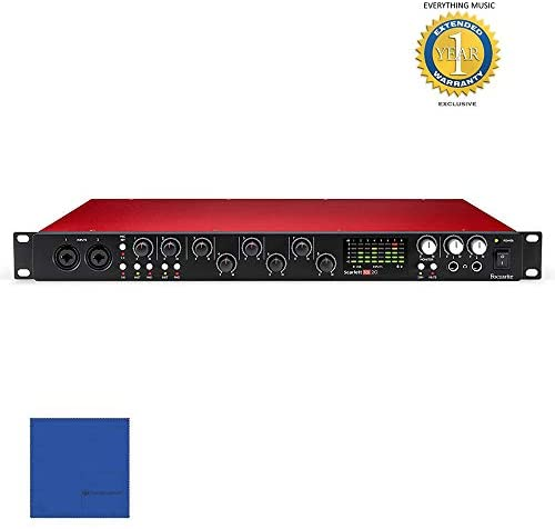 Focusrite Scarlett 18i20 Second Generation (2nd Gen) 18 in/20 out USB 2.0 Audio Interface with 1 Year Free Extended Warranty: Musical Instruments