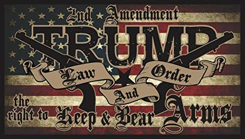 "Trump Law & Order 2Nd Amendment Guns American Flag 2020 Decal Bumper Sticker 5"": Kitchen & Dining"