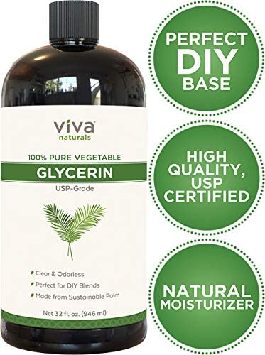 Glycerin (32 fl.oz) - 100% Pure Vegetable Glycerin, USP Certified, Perfect Soap Base for DIYs, Bubble Bath, Natural Hair and Face Moisturizer for Dry Skin, and Glycerin Soap (43 Ounces Net Weight): Arts, Crafts & Sewing