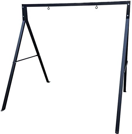 Sparkling Line 864784000317 Outdoor Double Holders Swing Frame, Black : Garden & Outdoor