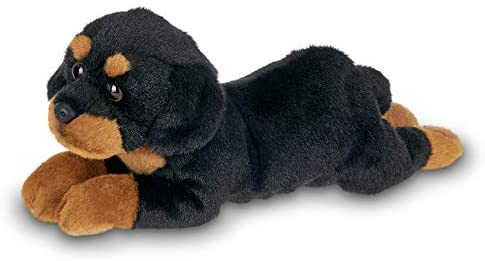 Bearington Lil' Gunner Small Plush Rottweiler Stuffed Animal Puppy Dog, 8 inches: Toys & Games