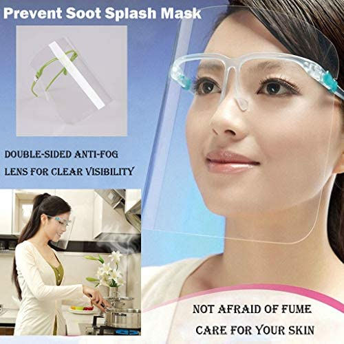 BBesty Full Cover Face Shield Protective Splashing Proof Clear Visor Face Cover Safety Kitchen Waterproof Dustproof Eye Protection Facial Cover