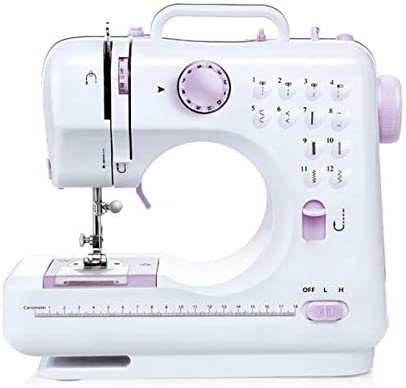 Top-spring Household Beginner Sewing Machine, Mini Multi-Function Sewing Machine with 2 Speeds, 12 Stitches for Fabric, Clothing, Children's Cloth, Family Travel Use