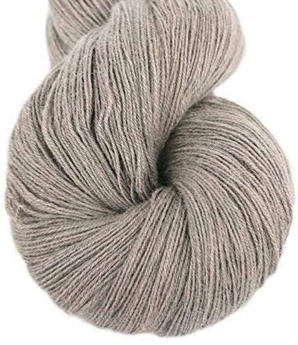 Lotus Yarns Lace Weight 1 Skein Cashmere Knitting Yarn Comfortable Soft Crochet Yarn Great for Baby Garments, Scarves, Hats, and Craft Projects (03-Sand)