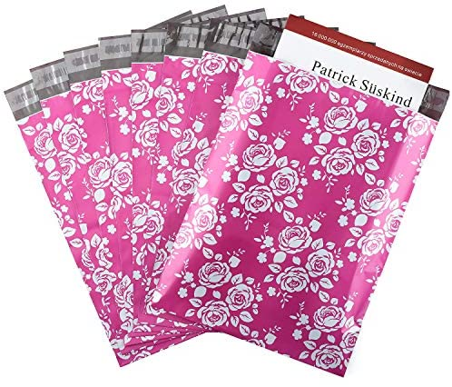 Metronic 10x13 Inch 100 Pack Rose Shipping Bags Envelopes Self Adhesive Poly Mailers in Hot Pink Printed Rose Design with Waterproof and Tearproof Postal Mailing Bags : Office Products